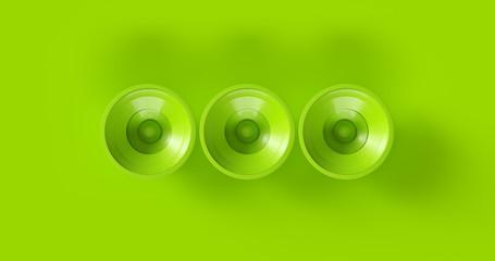 Green Speakers 3d illustration