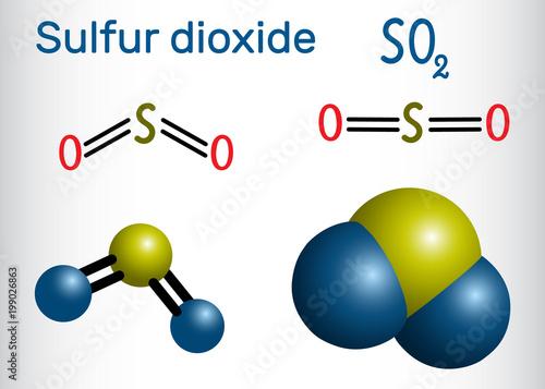 U0026quot Sulfur Dioxide  Sulphur Dioxide  So2  Molecule