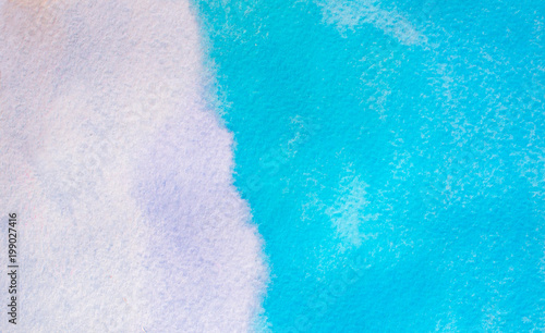 Light Blue Watercolor Gradient Color Background Hand Draw