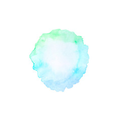 Hand draw watercolor  splash backdrop. Ombre background for text, logo, label, tag, card