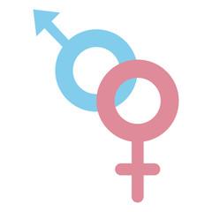 gender male and female crossed vector illustration design