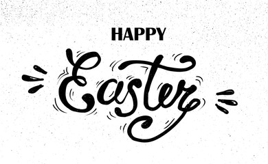 happy Easter Hand drawn lettering. design for holiday greeting card and invitation of the happy Easter day