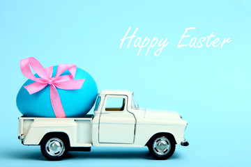 One Easter egg on a small car