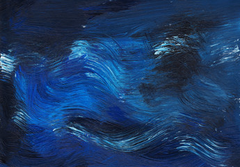 Abstract blue acrylic texture. Dark acrylic background for design