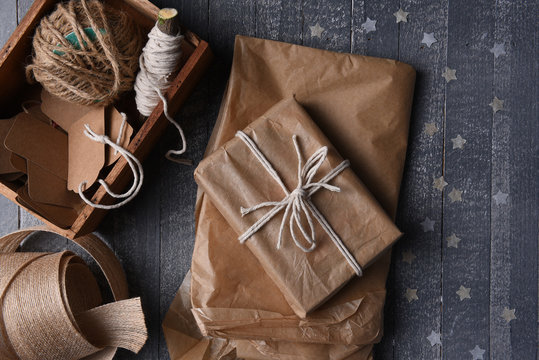 Plain Paper Christmas Wrapping Supplies
