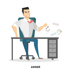 Isolated angry boss.
