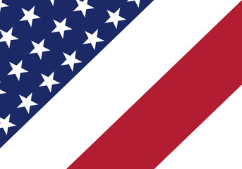 American festive banner. Vector background. USA flag in style.