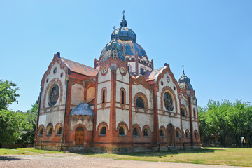 Printed kitchen splashbacks Monument The Jakab and Komor Square Synagogue in Subotica, Serbia
