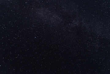 Lots of stars in the night black sky.