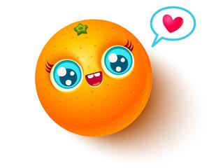 Vector kawaii orange