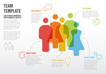 People team infographic template