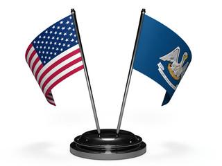 flags USA and louisiana 3D