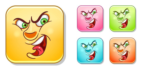 Angry Emoticons collection