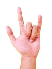 Rock N Roll Hand Gesture