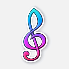Sticker of treble clef