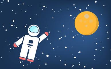 Vector space with cosmonaut