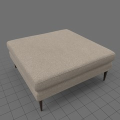 Square ottoman with cushion
