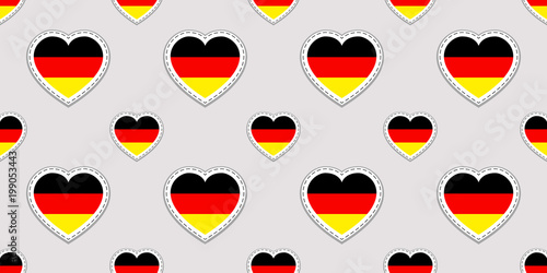 Germany Vector Background German Flag Seamless Pattern Vector