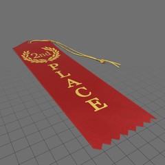 Red second place ribbon 1