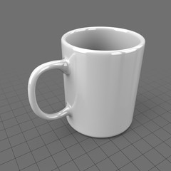 Generic white coffee cup