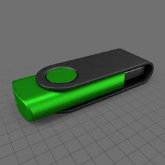 Closed USB drive (green)