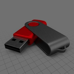 Open USB drive (red)