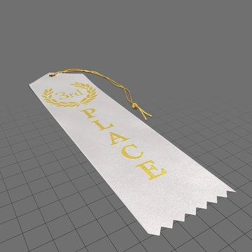 White third place ribbon 1