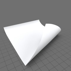 Single sheet of paper, curled 2