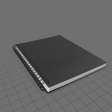 Closed spiral notebook