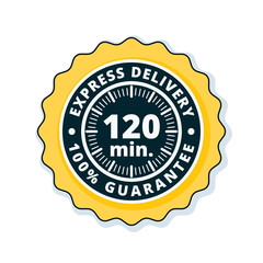120 minutes Express Delivery illustration