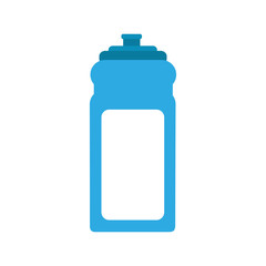 pure water bottle gym vector illustration design