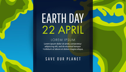 Earth Day. Save the Earth concept