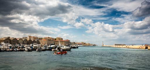 Chania's wharf, Crete, Greece