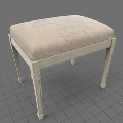 Classic bench with filigree pattern