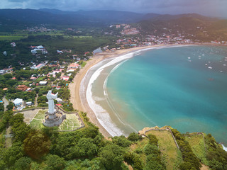 Panoramic aerial view of San Juan Del sur