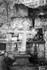 Cross on place of burial