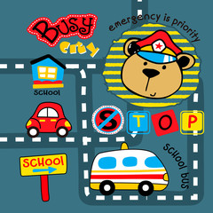 police patrol cartoon vector