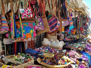 Colorful Market Street Shopping, Travel and Shop Til You Drop Concepts