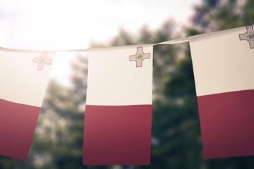 Malta flag pennants