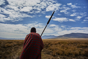 Hike Ngorongoro Conservation Area National park Highlands craters en route for Bulati Village from Nainokanoka with Masai Guide and cook.
