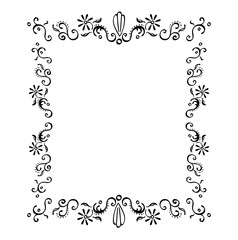 Filigree Flower Frame