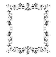 Filigree Flower Frame