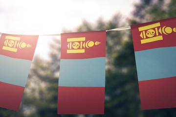 Mongolia flag pennants