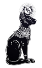 Illustration of Egyptian cat goddess Bastet.