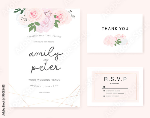 Wedding invitation card with golden rose stock image and royalty wedding invitation card with golden rose stopboris Image collections