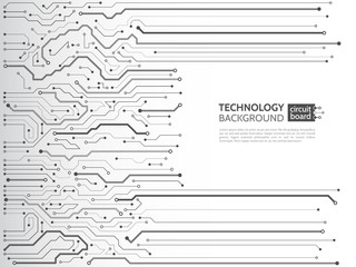 High-tech technology background texture. Circuit board vector illustration. Electronic motherboard concept