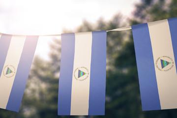 Nicaragua flag pennants