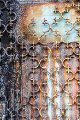 Rusted metal door, Greece
