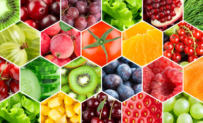 Background of fresh color food