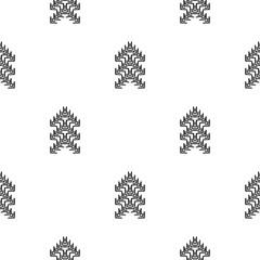 Black and White Seamless Ethnic Pattern. Tribal